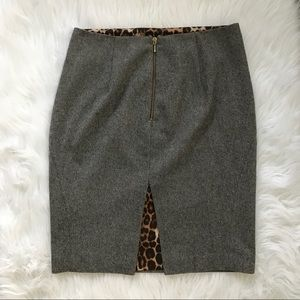 Express Design Studio Leopard Lined Wool Skirt a9